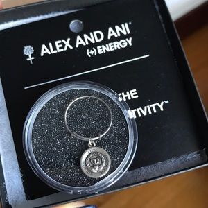 Alex and Ani Adjustable Sterling Silver Wire Ring